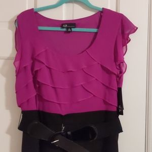 NWT Magenta & Black Dress from AGB Dress 14 NEW